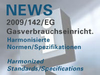 Harmoniserte Normen zur Richtlinie 2009/142/EG über Gasverbrauchseinrichtungen