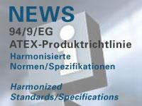 Harmonisierte Normen zur ATEX Produktrichtlinie 94/9/EG